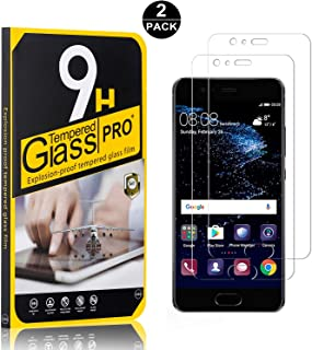 2 Pack UNEXTATI Premium HD Clear Screen Protector Anti Scratch Tempered Glass Film for Huawei P10 Tempered Glass Screen Protector Compatible with Huawei P10