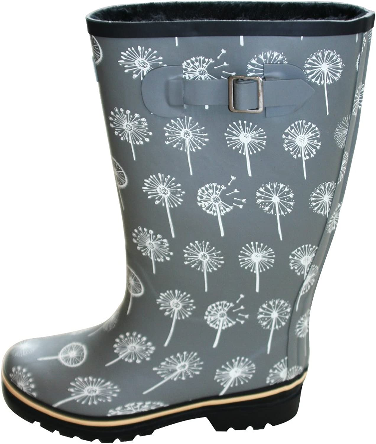Jileon Wide Calf All Weather Durable Rubber Rain Boots for Women-Soft & Fluffy Lining on The Inside–Fits Calf Sizes Up to 18 Inches