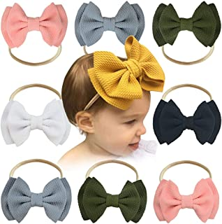 Baby Girl Nylon Headbands, Baby Hairbands Infant Toddler Headbands, Hair Bows Petal Flower Accessories