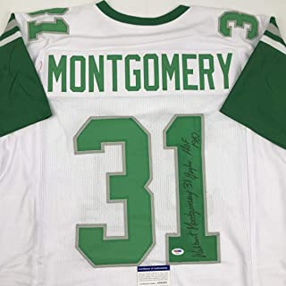 Autographed/Signed Wilbert Montgomery Inscribed Philadelphia White Football Jersey PSA/DNA COA