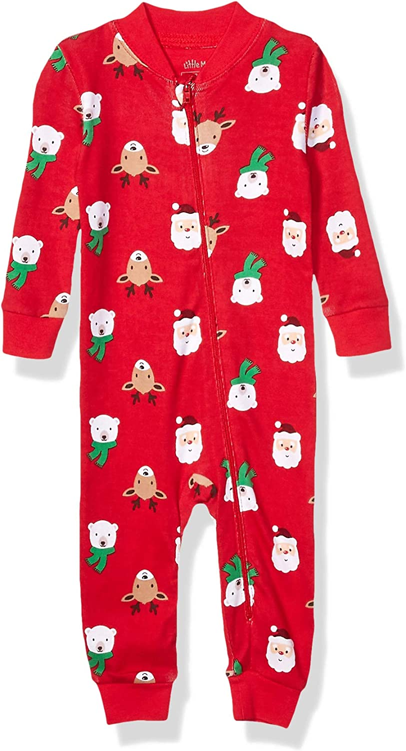 Little Me Baby Girls' Holiday Cotton Pajamas