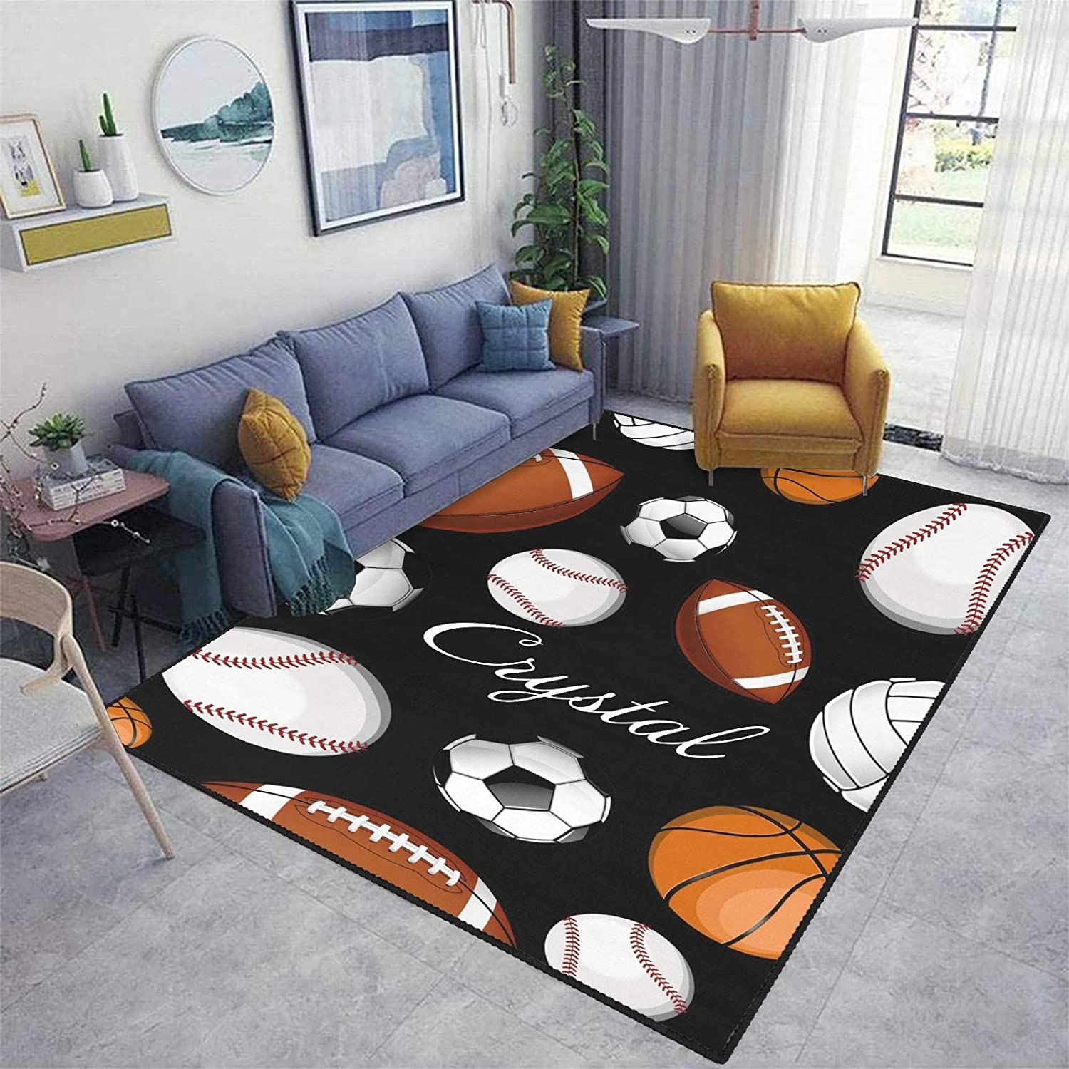 Basketball Rugby Tennis Football Sale Special Price Area New popularity Custom Ca Personalized Rug