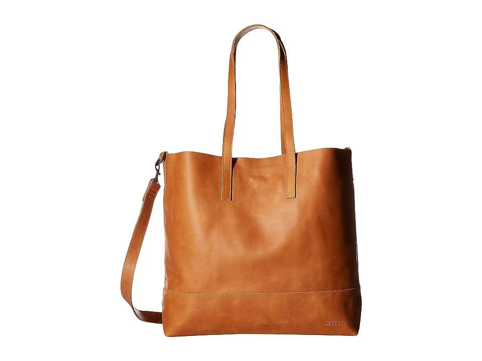 Image of ABLE Abera Crossbody (Cognac) Cross Body Handbags