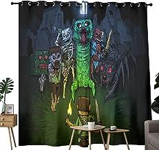 """Lichtgewicht gordijn Minecraft Steve en de monsters Ontwerp en versieren 2 panel slaapkamer keuken gordijnen 84 """"x63"""""""