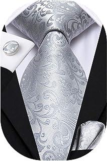 Hi-Tie 63inches Silk Mens Tie Set Extra Long Necktie Woven Pocket Suqare