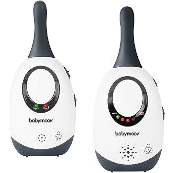 Babymoov Simply Care Babyphone Audio avec Fonction VOX, Double Alarme et 2 Adaptateurs, Portée300m