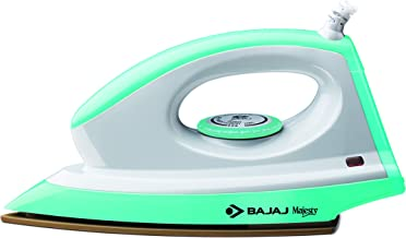 Bajaj Majesty Canvas 1000-Watt Dry Iron (Green)