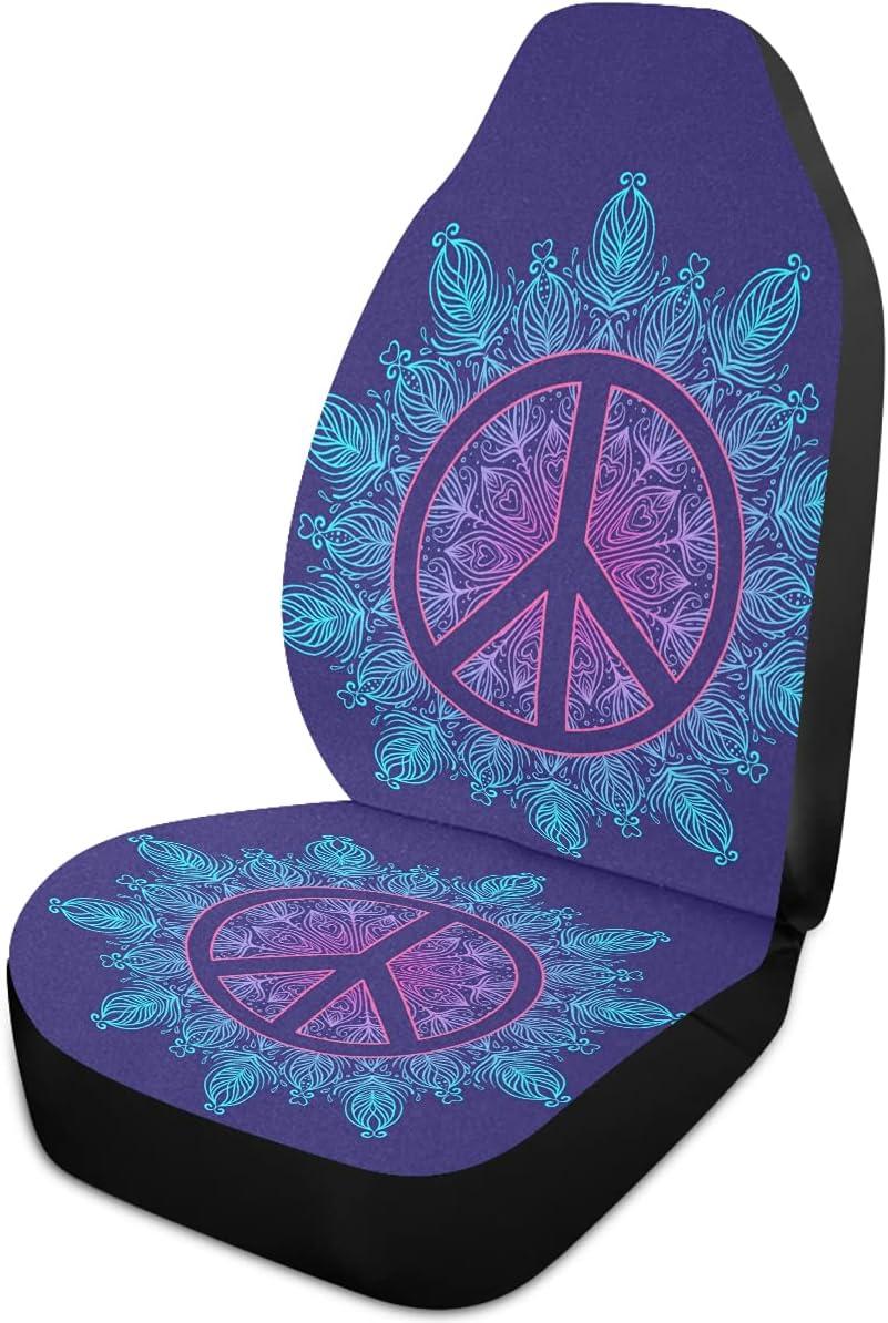 Oarencol shop Peace Directly managed store Mandala Flower Car Seat Blue Universa Boho Covers