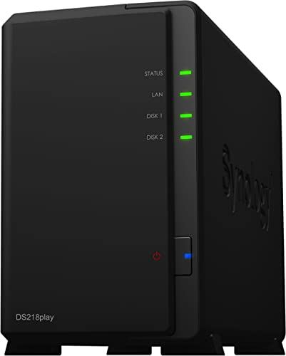 Synology DS218PLAY 6 TB 2 Bay NAS Solution | Installed with 2 x 3 TB Seagate IronWolf Drives