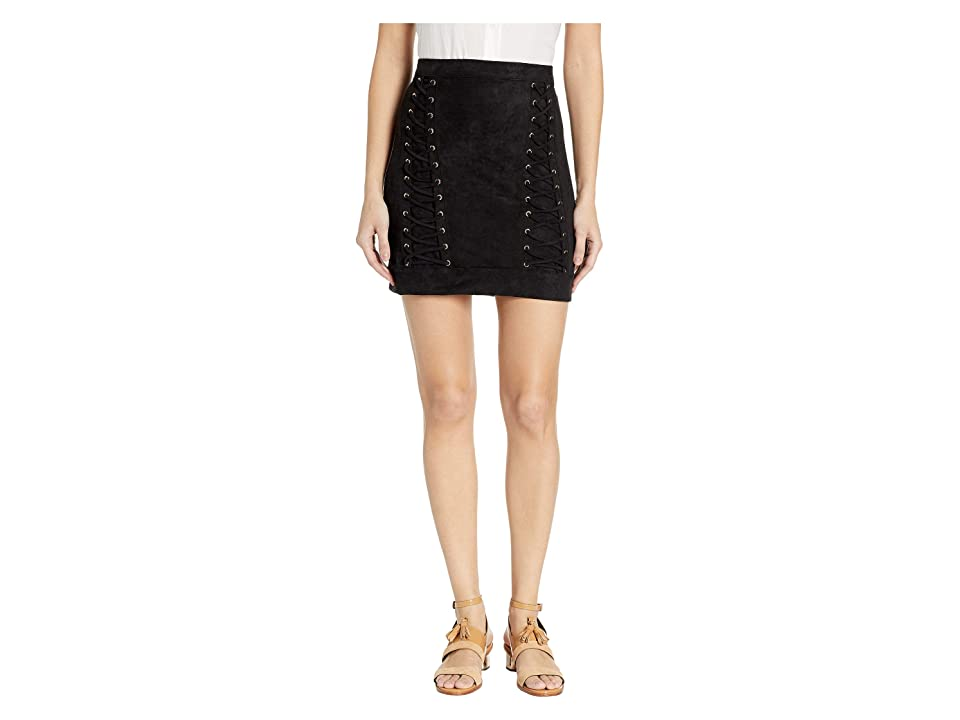 Bebe Lace-Up Mini Skirt (Jet Black) Women