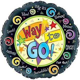 """CTI Balloons Foil Balloon 114661 Way to Go, 17"""", Multicolor"""