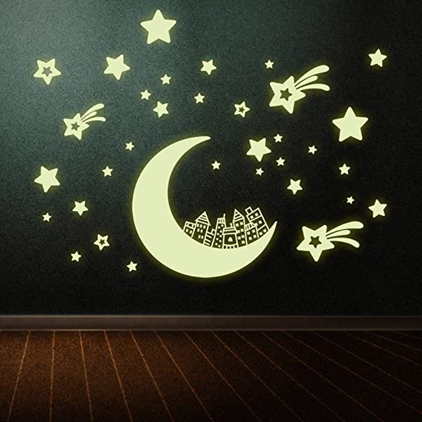 Good Road Decoration Wall Stickers Self Adhesive Luminous Stars Children S Bedroom Decoration