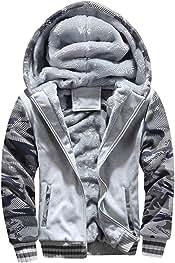D.B.M Mens Winter Plus Velvet Thickening Collar Cotton Windbreaker Jacket