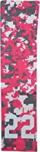 Sports Farm Custom Number Pink Gray White Digital Camo Arm Sleeve