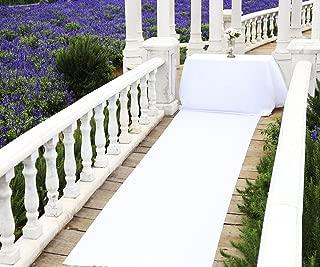 Zdada Aisle Runner Decorations, Aisle Runner Carpet, Aisle Runner White for Wedding, 48