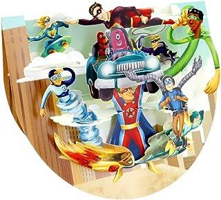 Santoro Popnrock Superheroes 3D Card, Multi-Colour