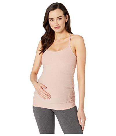 Beyond Yoga Maternity Spacedye Slim Racerback Tank (Tinted Rose/Pink Quartz) Women