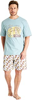 Looney Tunes Mens Pyjamas, Space Jam Pyjamas for Men Cotton Mens Pjs Set
