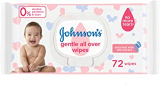 Johnson's Baby Wipes Gentle All Over, 12 X 72 Wipes - Pack of 1