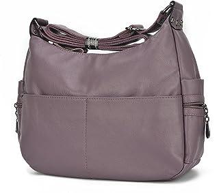 Women Crossbody Bag Large Capacity Shoulder Bag Purse Hobo Handbag Double  Zipper Totes Bags Leparvi b073fd257c504
