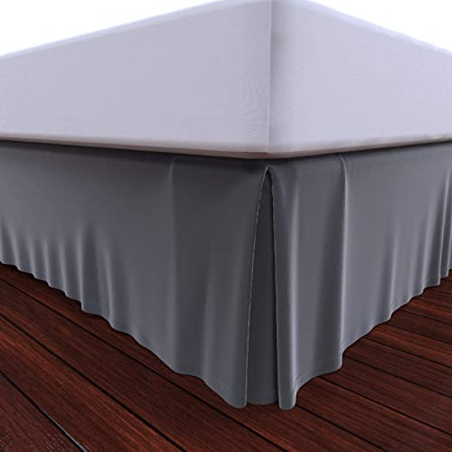 popular Royal new arrival wholesale Bed Skirt 100% Cotton Pleated Bed Skirt (King, Grey) online