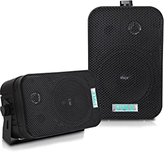 Dual Waterproof Outdoor Speaker System – 5.25 Inch Pair of Weatherproof..