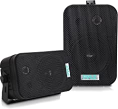 Best Dual Waterproof Outdoor Speaker System - 5.25 Inch Pair of Weatherproof Wall/Ceiling Mounted Speakers w/Heavy Duty Grill, Universal Mount - for Use in The Pool, Patio, Indoor - Pyle PDWR40B (Black) Review