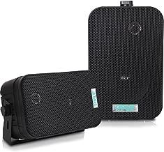Dual Waterproof Outdoor Speaker System – 5.25 Inch Pair of Weatherproof..