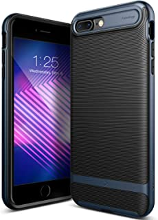 Caseology Wavelength for Apple iPhone 8 Plus Case (2017) / for iPhone 7 Plus Case (2016) - Stylish Grip Design - Black/Deep Blue