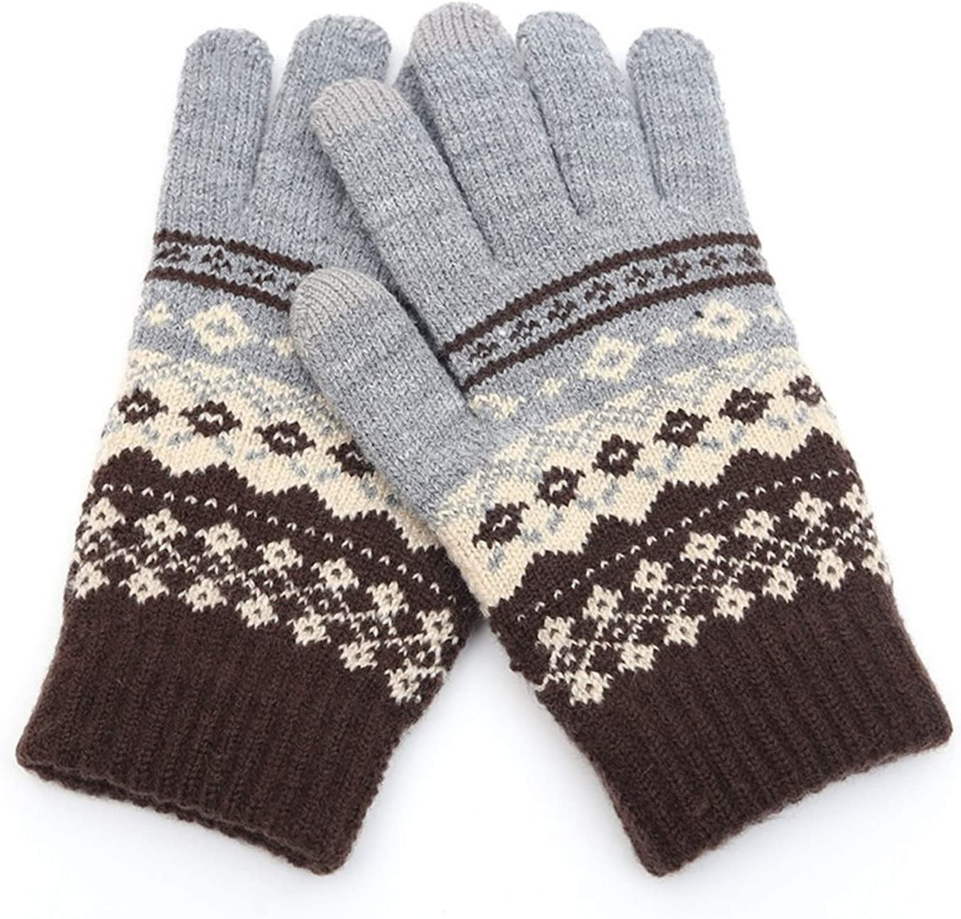 JBIVWW Winter Warm Thick Touch Screen Gloves Women's Wool Knitted Gloves Mittens for Mobile Phone Tablet Pad (Color : 5, Gloves Size : One Size)