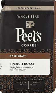 Peet's Coffee French Roast, Dark Roast Whole Bean Coffee, 20 Ounce Peetnik Pack