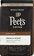 Peet's Coffee French Roast, Dark Roast Whole Bean Coffee, 20 Ounce Peetnik Pack