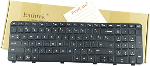 Eathtek Replacement Keyboard with Frame for HP Pavilion dv6-6000 dv6-6b19wm dv6-6b21he dv6-6b22he dv6-6b26us dv6-6c10us dv6-6c11nr dv6-6c16nr dv6-6c18nr dv6-6c29wm Series Black US Layout