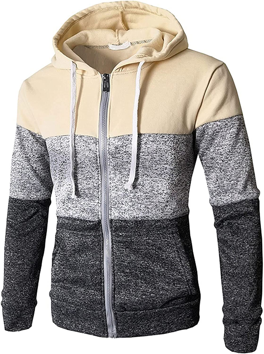 Men's Hooded Safety and trust Stripes Plus Velvet Knitted Cardigan Max 71% OFF Warm Ja Padded
