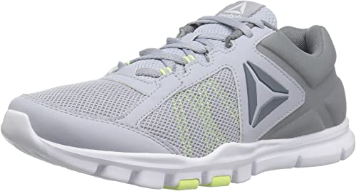 Reebok Wohommes Yourflex Trainette 9.0 MT Track chaussures, Cloud gris Asteroid dust Electric Flash blanc, 11 M US