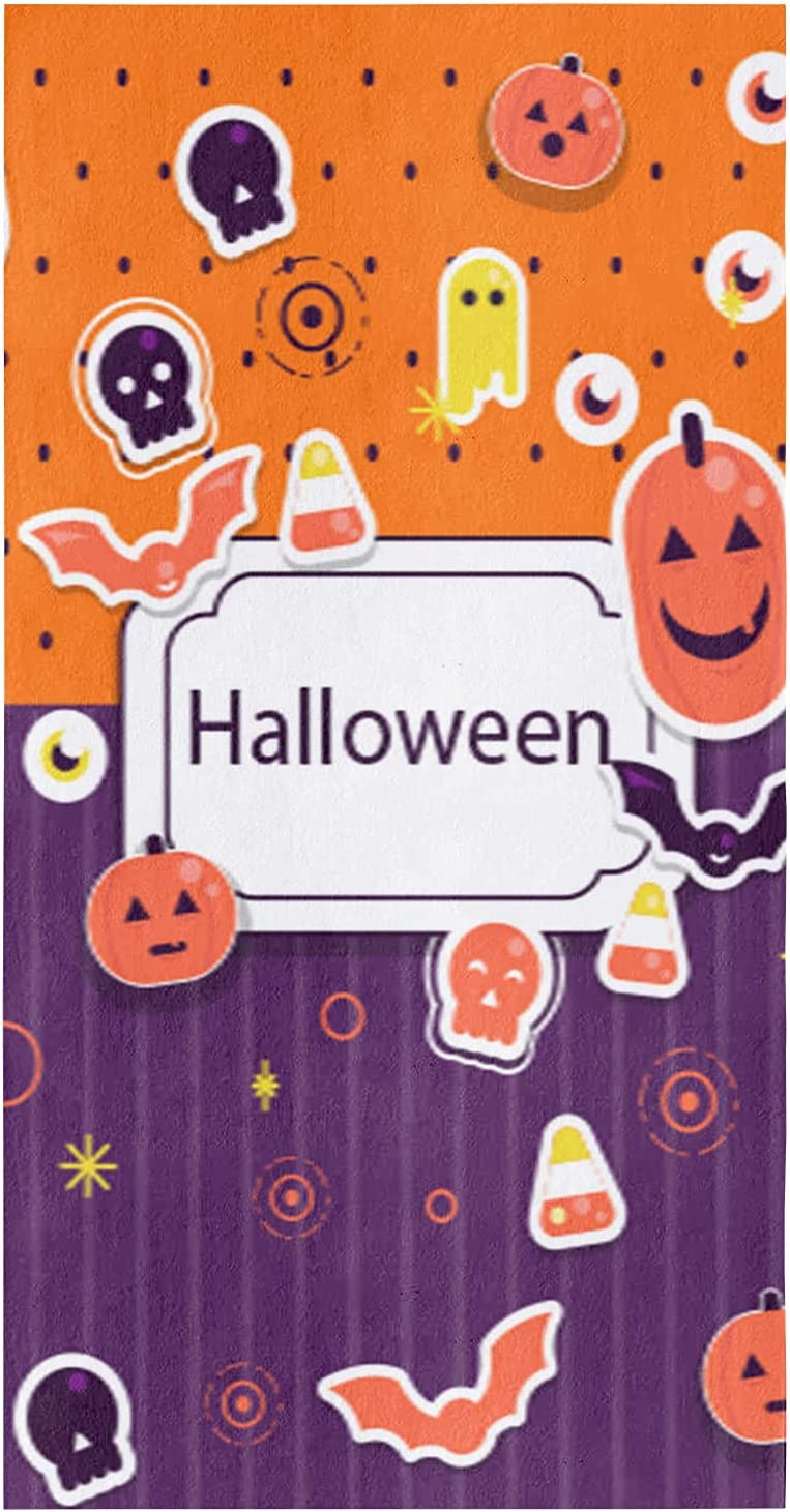 4Pack Financial sales sale Ultra-Cheap Deals Microfiber Kitchen Towels Eyeba Cartoon Halloween Pumpkin