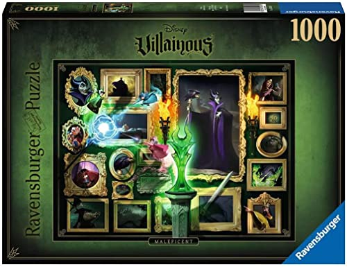 Ravensburger- 15025 Puzzle 1000 pièces-Maléfique (Collection Disney Villainous) Adulte