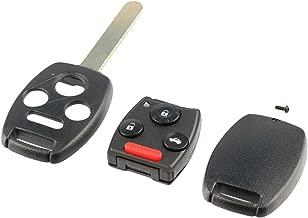 Key Fob Keyless Entry Remote Shell Case & Pad fits Honda Accord Civic Pilot (KR55WK49308, MLBHLIK-1T, N5F-S0084A)