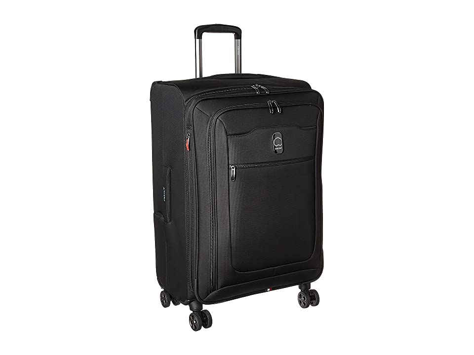 Delsey Hyperglide 25 Expandable Spinner Upright (Black) Luggage