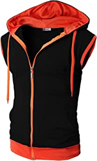 orange and black vest