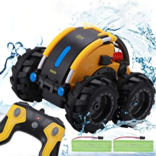 Apsung Remote Control Car, 1/24 Scale Amphibious Vehicle for Kids 2.4GHz Off Road RC Truck with 4WD Electric Toy Car, 360°...