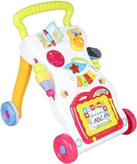Popsugar 2 in 1 First Steps Baby Walker Sounds and Lights Fun Push Along Children Walker