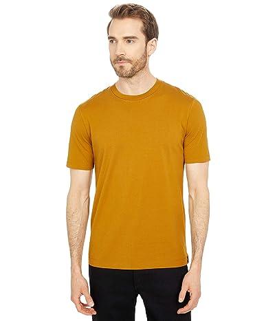 Scotch & Soda Classic Solid Organic Cotton-Jersey Crew Neck T-Shirt (Nutmeg) Men