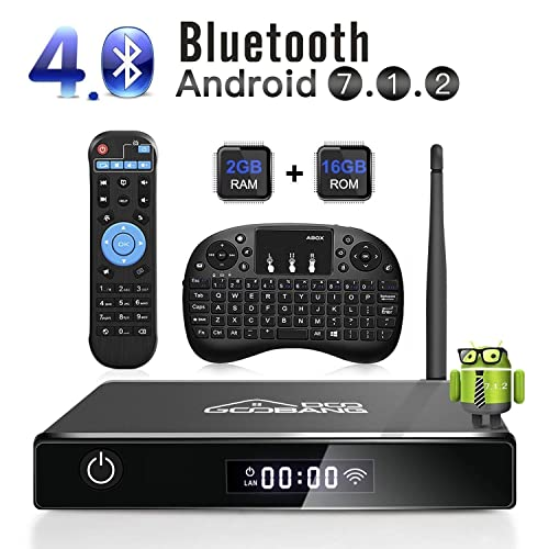 Android TV Box, GooBang Doo XB-III Smart TV Box Android 7.1 Quad Core
