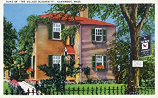 Cambridge, Massachusetts - Exterior View of the ''Village Blacksmith's'' House (16x24 Giclee Gallery Print, Wall Decor Travel Poster)