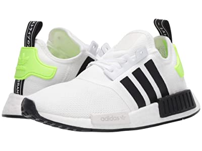adidas Originals Kids NMD_R1 J (Big Kid) (White/Black) Kids Shoes