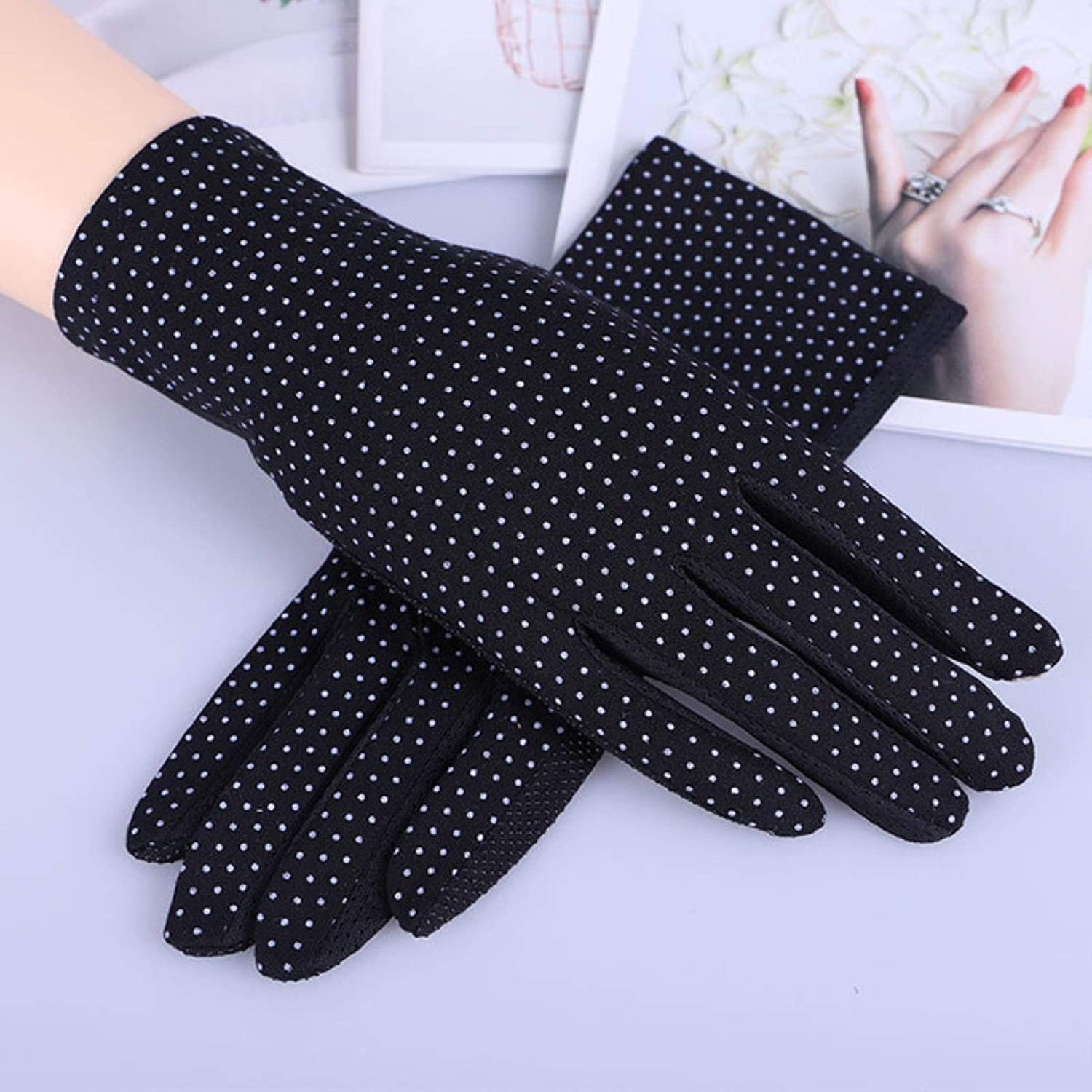 Spring Summer Driving Gloves Women Touch Screen Thin Cotton Gloves Lace UV Sun Against Non Slip Riding Car Gloves