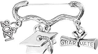 BinaryABC 2021 Graduation Brooch,Graduation Cap Diploma Brooch Pin,Graduation Party Favors Decorations Supplies