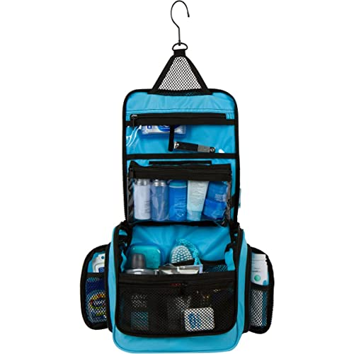 Hanging Travel Toiletry Makeup Wash Bag   Organizer with Strong Metal  Swivel Hook and TSA Removable 8c314e0f57f6b