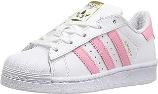 adidas Originals Kids' Superstar, White/Clear Light Pink/Metallic Gold, 12K M US Little Kid